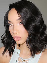 cheap -Human Hair 360 Frontal Wig Brazilian Hair Body Wave Wig Bob Haircut / With Baby Hair 180% Natural Hairline Women's Long Human Hair Lace Wig