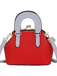 preiswerte -Damen Taschen PU Tragetasche Reißverschluss für Normal Alle Jahreszeiten Weiß Schwarz Rote Rosa Gelb