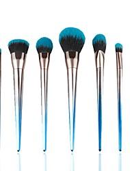 abordables -7 PC Sistemas de cepillo Pincel de Poni Pelo Sintético Profesional Suave Resina Sonrojo