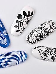 8 Autocollant d'art de clou Stickers Applique Autocollant Outils DIY Maquillage cosmétique Nail Art Design