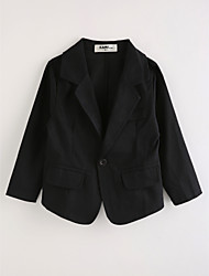 cheap -Boys' Solid Suit & Blazer,Cotton Long Sleeves Black