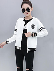 Women's Holiday Hoodie Jacket Color Block Cotton