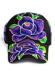 abordables -Femme Coton Rétro Chapeau de soleil Fleur