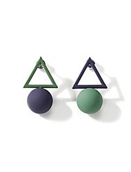 cheap -Women's Mismatched Stud Earrings - Ball Korean, Sweet, Colorful Green For Birthday / Engagement / Daily