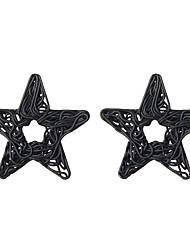 Women's Stud Earrings Hoop Earrings Simple Elegant Metalic Alloy Star Jewelry For Casual Going out