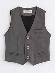 cheap -Boys' Solid Vest,Cotton Sleeveless Dark Gray