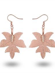 Недорогие -Жен. Серьги-слезки Серьги-кольца Классика На каждый день европейский Мода Крупногабаритные Позолота Позолоченное розовым золотом Сплав В