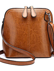 cheap -Women's Bags Cowhide Crossbody Bag Zipper Black / Blushing Pink / Brown