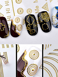 1 Autocollant d'art de clou Stickers Applique Autocollant Autocollant feuille Maquillage cosmétique Nail Art Design