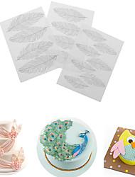 Недорогие -3pcs / set перо цветок цветка текстуры коврик сахара ремесла украшения инструмент для пирога diy пластиковые формы 25,4 * 17,8 см