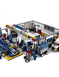 Недорогие -Sluban Конструкторы Конструкторы Игрушки Обучающая игрушка 741 pcs Транспорт совместимый Legoing Машинки Формулы 1 Гоночная машинка Мальчики Девочки Игрушки Подарок