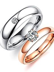 Жен. Набор колец Стразы Стразы Титановая сталь Бижутерия Назначение Свадьба Для вечеринок