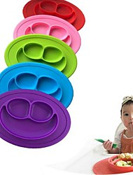 cheap -Kids One Piece Silicone Placemat Plate Dish Food Tray Table Mat for Baby Toddler