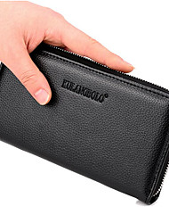cheap -Women Bags PU Wallet Zipper for Casual All Season Black Brown