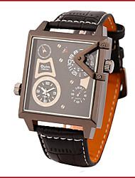 Недорогие -Oulm Муж. Наручные часы Модные часы Кварцевый Термометр Компас Кожа Группа На каждый день
