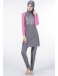 cheap -Women's Floral Tankini Swimwear Blue Black Gray