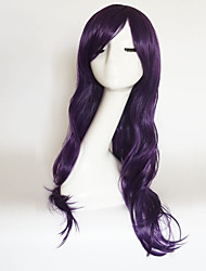 cheap -Women Synthetic Wig Capless Medium Length Long Natural Wave Black Green Blue Purple Light Blonde With Bangs Party Wig Natural Wigs