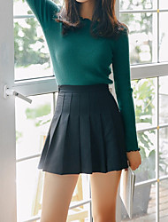 cheap -Women's Casual/Daily School Mini Skirts A Line Solid Summer Fall