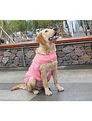abordables -Chat Chien Gilet Vêtements pour Chien Couleur Pleine Rouge Bleu Rose Coton Costume Pour les animaux domestiques Garder au chaud Robe