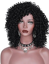 cheap -Afro Curly High Quality Heat Resistant African and American Women Synthetic Wig  Capless Wig Fashion Hot Sale