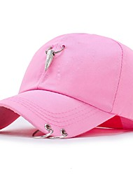 cheap -Women's Cotton Baseball Cap,Casual Floral All Seasons Stylish White Black Blushing Pink