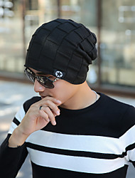 cheap -Men's Knit Floppy Hat,Vintage Casual Solid Winter Spring Stylish Navy Blue Gray