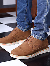 Men's Shoes Cowsuede Leather All Season Cowboy / Western Boots Sneakers Booties/Ankle Boots For Wear to work Brown Yellow Black