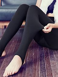 cheap -Women's Medium Fleece Lined Solid Colored Legging