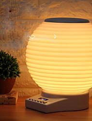 1pc ha condotto la luce del sensore di tocco della luce notturna porta usb dc3.5 alimentato 18w lanterna fm wifi lettore musicale buletooth