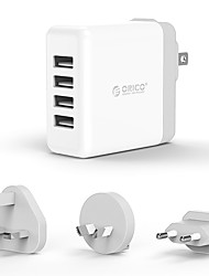 cheap -USB Charger ORICO 4 Ports Desk Charger Station with Smart Identification US Plug EU Plug UK Plug AU Plug Charging Adapter