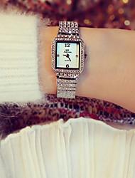 abordables -Mujer Cuarzo Reloj de Pulsera Reloj de Moda Japonés Gran venta Acero Inoxidable Banda Encanto Plata Dorado Oro Rosa