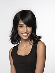 economico -Donna Parrucche senza cappuccio per capelli umani Nero Naturale Medio Onda sciolta Parte laterale