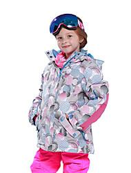 Недорогие -Phibee Детские Лыжная куртка Теплый Водонепроницаемость С защитой от ветра Пригодно для носки Антистатический Воздухопроницаемость