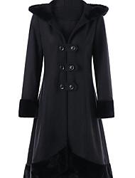 レディース カジュアル/普段着 冬 コート,シンプル ラウンドネック プリント レギュラー コットン 長袖