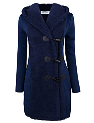 cheap -Women's Basic Coat-Solid Colored