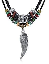cheap -Men's / Women's Turquoise Pendant Necklace - Silver Plated Wings Vintage Black Necklace One-piece Suit For Gift, Daily