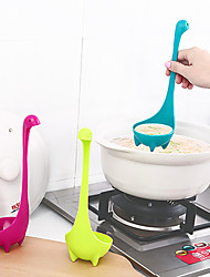 cheap -1Pc Creative The Loch Ness Monster Dinosaur Nessie Large Soup Spoon Ladle Scoop Long Handle Can Stand Can Hang Cartoon