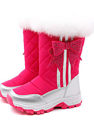 Girls' Shoes Real Leather Winter Comfort Snow Boots Boots For Casual Fuchsia Black