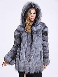 cheap -Long Sleeves Faux Fur Wedding Party / Evening Women's Wrap With Cap Coats / Jackets