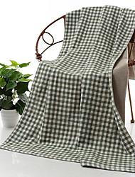 economico -Stile fresco Telo da bagno,Scozzese/a quadri Qualità superiore Cotone puro Asciugamano