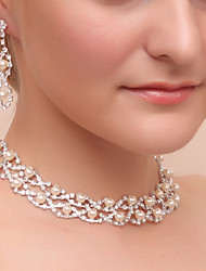 cheap -Women's Jewelry Set - Imitation Pearl, Imitation Diamond Classic Include Drop Earrings / Necklace Silver For Wedding / Party