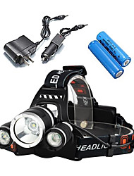 cheap -ANOWL Headlamps Headlight 2400 lm 4 Mode LED with Batteries and Charger Portable Professional Impact Resistant Rechargeable 2x18650 Camping / Hiking