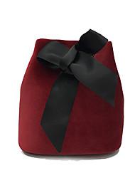 abordables -Mujer Bolsos Terciopelo Bolso de Hombro Lazo(s) para Casual Todas las Temporadas Negro Gris Verde Oscuro Wine