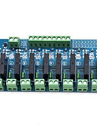новый 8-полосный 2a низкоуровневый полупроводниковый релейный модуль синяя плата 5v12v24v опционально ac 240v2a