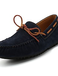 Men's Shoes Rubber Spring Fall Moccasin Boat Shoes For Outdoor Blue Brown Gray