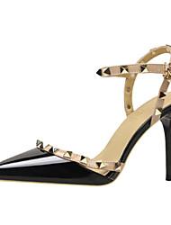 Недорогие -Жен. Обувь Ткань Полиуретан Весна Лето Удобная обувь Оригинальная обувь Обувь на каблуках Заостренный носок Сапоги до середины икры
