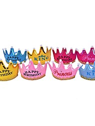cheap -4PCS Crown Led Birthday Cap Hat Princess Hat Party Ramdon Color