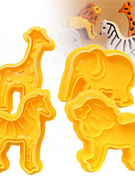 abordables -4 pcs / set cookie plongeur cutters biscuit fondant gâteau moule 3d animal éléphant sugarcraft décor artisanat