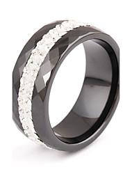 preiswerte -Damen Kubikzirkonia Kubikzirkonia Bandring - Weiß / Schwarz Ring Für Hochzeit / Party