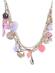 economico -Per donna Dolce Elegant Collane con ciondolo Perle finte Perle finte Lega Collane con ciondolo , Per uscire
